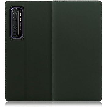 LOOF SKIN Slim Xiaomi Mi Note 10 Lite ケース 手帳型 カバー 極薄 ベルト無し カード収納 カードポケット 薄い 軽い スタンド機能 手帳型ケース スマホケース シンプル 手帳型カバー (エバーグリーン)