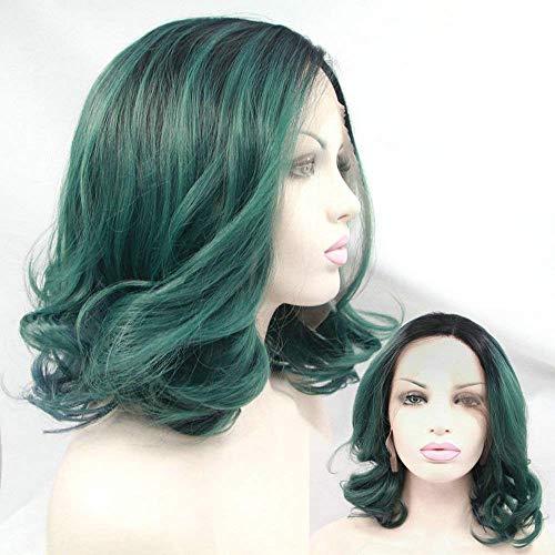 Perruques Avant de Lacet pour Femmes Perruques lâche bouclés 14 Pouces Coupe de Cheveux Cosplay Halloween Robe Perruques de fête