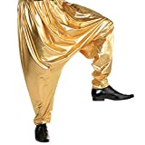 AMSCAN Gold Hip Hop Parachute Pants for Adults, One Size