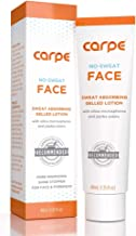 Carpe No-Sweat Face - Helps Keep Your Face, Forehead, and Scalp Dry - Sweat Absorbing Gelled Lotion - Plus Oily Face Control - With Silica Microspheres and Jojoba Esters