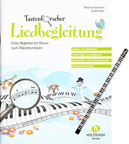 Tastenforscher Liedbegleitung – ideal für Anfänger und Wiedereinsteiger am Klavier [Noten/sheet music] mit Piano-Motiv-Bleistift