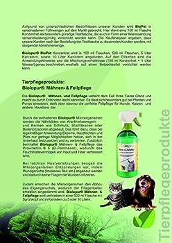 Biolopur - BioPet – Neutralisateur d'odeurs – Désodorisant – Spray – Nettoyant Urine, Animal de Compagnie, etc. 500 ML de concentré Donne 5 L de Solution prête