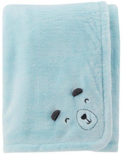 Carter's Baby's Plush Blanket, Blue/Bear