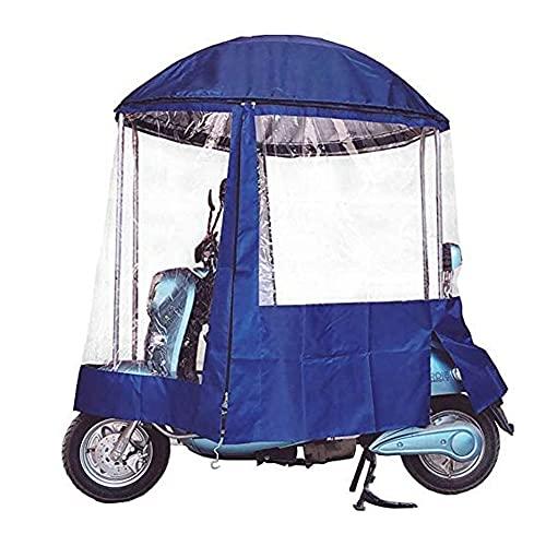 RLRL Paraguas Universal Totalmente Cerrado para Scooter De Motor De Coche, Paraguas Impermeable De Movilidad para El Sol, Cubierta De Lluvia para Motocicleta (Color : Blue, Size : A)