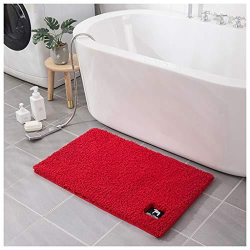 Alfombra de baño VISZC Shaggy antideslizante, extra gruesa suave y absorbente, para bañera, ducha y baño 7-40x60 cm+50x80 cm