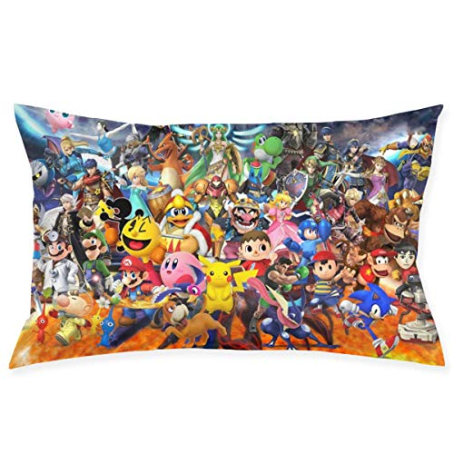 chenshan Game Mario and The Legend of Zelda Throw Pillow Covers Square Plush Pillowcases Decorative Printing Soft for Child Bed Home Modern Cushion pillowslip