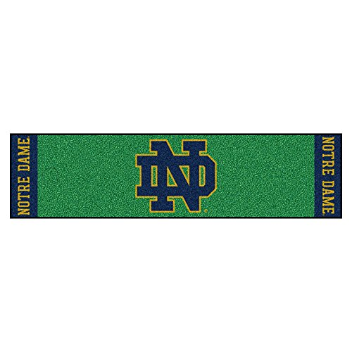 FANMATS NCAA Notre Dame Fighting Irish Dameputting Green Mat, Team Color, One Size