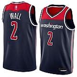LYY Jerseys De Hombre, NBA Washington Wizards # 2 John Wall - Classic Basketball Sportswear Foot Comfort Chalecos Tops Camisetas Sin Mangas Uniformes,Azul,M(170~175CM)