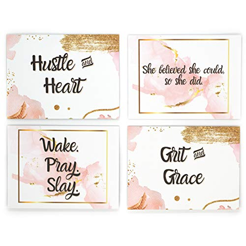 Brook & Meadow Encouragement Cards- Thinking of You Cards- Motivational Cards & Inspirational Cards- 24pack Assorted Cards Blank Cards and Envelopes- Blank Greeting Cards- Greeting Cards Blank Inside
