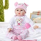 GUOOK Muñeca Reborn de 22 Pulgadas Muñecas Suaves realistas Lindas Muñecas recién Nacidas con Juguete para niñas pequeñas para niños