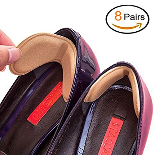 EQLEF Talón de Las Plantillas del Zapato Evitar Rozaduras talón de los Zapatos de tacón engomadas de Ajustes de la Longitud del Zapato del tacón Zapatos de Ratones (8 Pares)