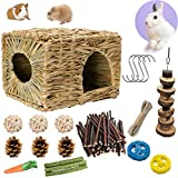 Bunny Grass House-Hand Made Edible Natural Grass Hideaway Comfortable...