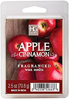 Hosley Apple Cinnamon Scented Wax Cubes/Melts – 2.5 oz Hand Poured Wax Infused with..
