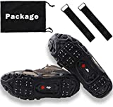 OROOTL Ice Snow Grips,Universal Ice Cleats Snow Traction Cleats 24 Spikers Anti-Slip Ice Gripper Crampons...