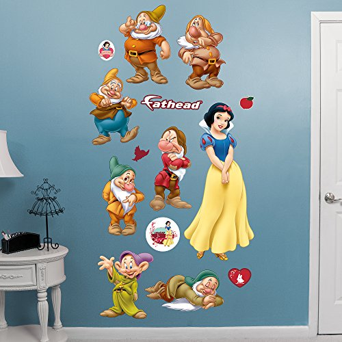 FATHEAD Snow White and 7 Dwarfs: Collection-X-Large Officially Licensed Disney Removable Wall Decal