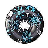 47'' Inflatable Snow Tube for Sledding for Kids and Adults, Heavy Duty Snow Tire Snowboard with Handles,...