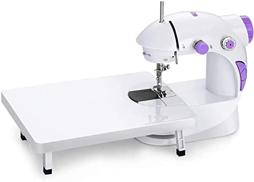 NIJANAM Portable Mini Sewing Machine with Table for Home Silai Tailor Machines Accessories