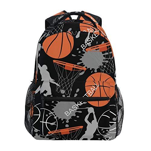 Mochila escolar RELEESSS para jugador de baloncesto, mochila ligera para portátil, para niños y niñas, unisex