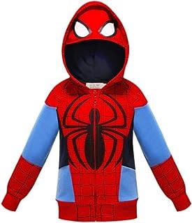 Sudadera con capucha para niños de 1 a 7 años con cremallera de superhéroe