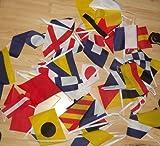AZ FLAG Guirnalda 13 Metros 40 Banderas del CÓDIGO Internacional DE SEÑALES Nautico 21x15cm - Bandera NAUTISMO 15 x 21 cm - banderines