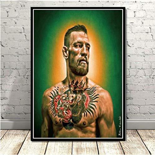 Poster en Printer Boxing Super Star Groot modern schilderij canvas wandschilderijen voor de woonkamer 50 × 70 cm zonder lijst