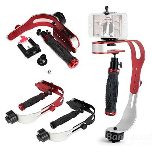 Mark8shop 1,5 kg-Stabilizzatore con adattatore per videocamera Gopro Hero 3 +, per fotocamere Canon, Nikon, Gopro SJCAM per fotocamera DSLR