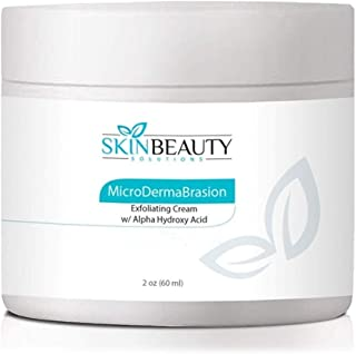 2 oz Micro DermaBrasion Cream with Glycolic Acid & MicroDermaBrasion Aluminum Oxide Crystals-for Face Use -120 grits, Pure White Micro Derma Brasion Crystals-Acne Wrinkles, Dull Skin,Blackheads,Scars