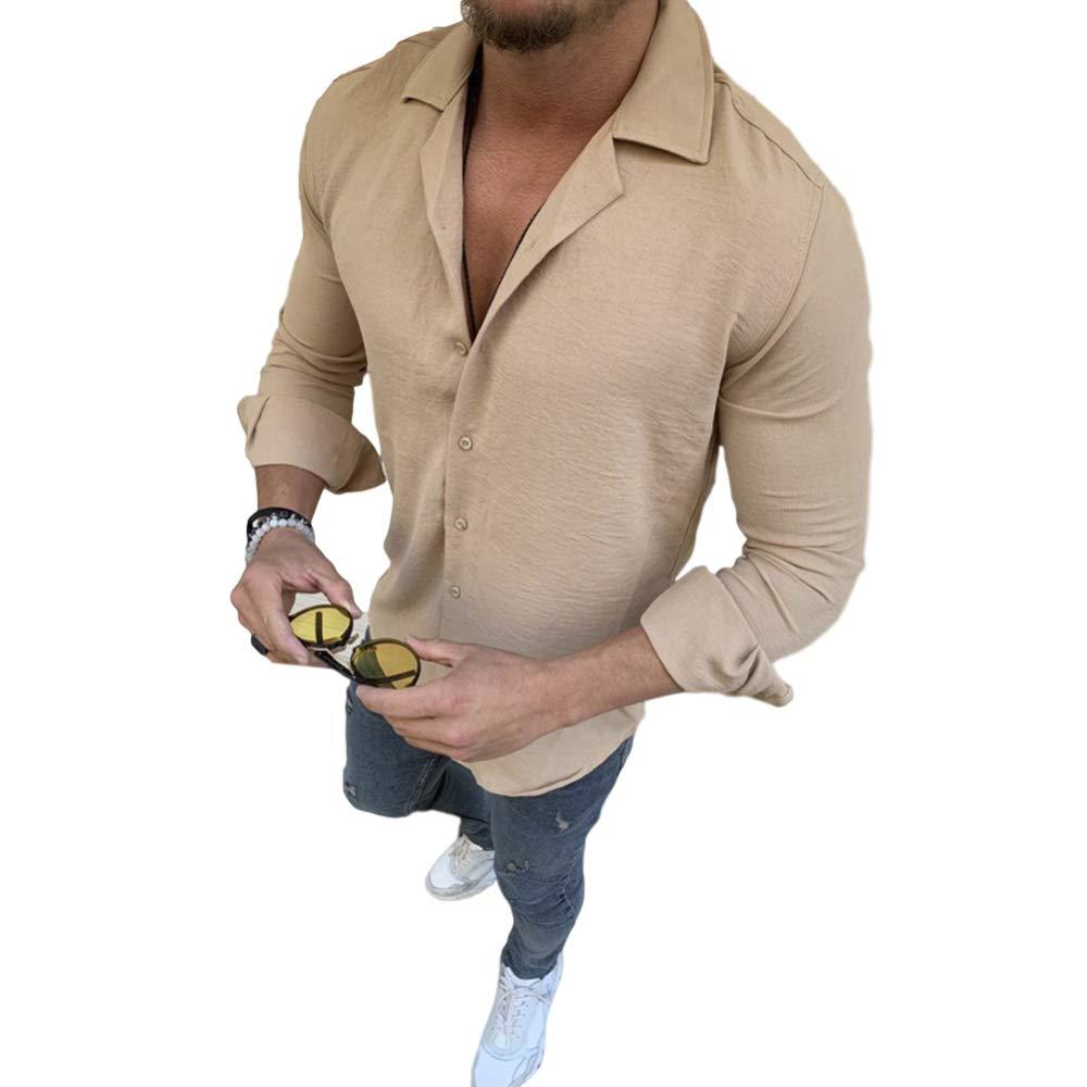 Sxgyubt - Camisa de manga larga para hombre (algodón y lino) transparente caqui extra-Large: Amazon.es: Instrumentos musicales