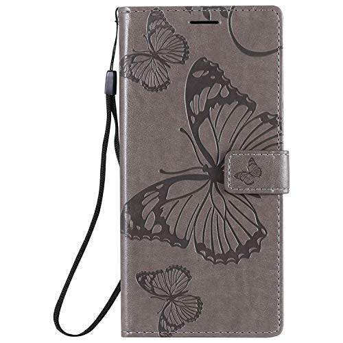 Hülle für Samsung Galaxy Note 20 Ultra Hülle Handyhülle [Standfunktion] [Kartenfach] [Magnetverschluss] Tasche Etui Schutzhülle lederhülle klapphülle für Galaxy Note 20 Ultra - JEKT042721 Grau