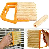 AKOAK Microfibre Blind Blade Cleaner Window Conditioner Duster Clean Brush With 7 Slat Handheld Household Kitchen...