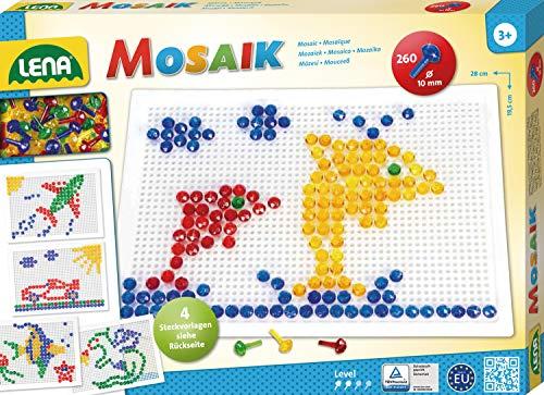 Lena 35606 - Mosaik Set, 10 mm, groß, transparent