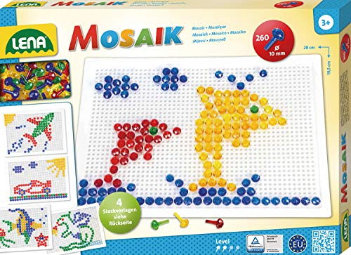Lena 35606 - Mosaik Set, 10 mm, groß, transparent
