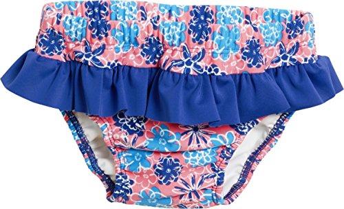 Playshoes Mädchen UV-Schutz Windelhose Veilchen Schwimmwindel, Mehrfarbig (LACHS 41), 62 (Herstellergröße: 62/68)