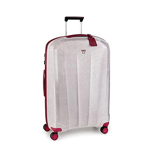 RONCATO We are Texture trolley rigido large ultraleggero Bianco/Rosso