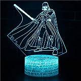 Lámpara de noche LED 3D 7 colores que cambian la lámpara mágica de ilusión 3D para niños Decoración del hogar de la habitación-Luz3