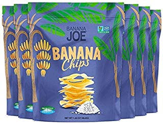 "Sea Salt Chips, Gluten-Free Healthy Snacks for Adults & Kids – Vegan & Paleo Approved – A ""Potato Chip"" That's Good For You (Made From 100% Real Banana) 6 packs"