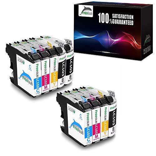 FreeSUB LC103 Compatible Ink Cartridges Replacement for Brother LC103, High Yield 2 Set+1 BK Used for Brother MFC-J870DW MFC-J450DW MFC-J470DW MFC-J6920DW MFC-J4410DW DCP-J152W MFC-J4710DW MFC-J475DW