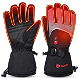 Heated Gloves Electric Rechargeable Battery Powered - Savior Upgrade 7.4V Warming Ski Gloves Men Women Hunting Hiking Climbing Running Motorcycle Typing Cold Hands (XL)