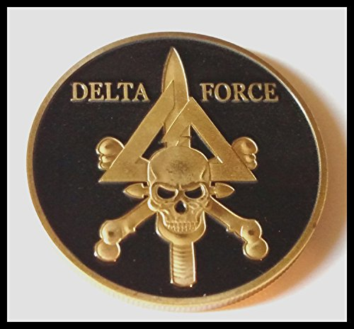 US Military Delta Force Colorized Challenge Art Coin