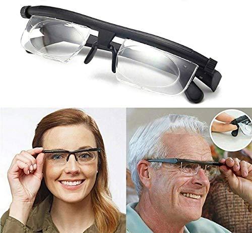 HYwot Lesebrillen Unisex Myopie Einstellbare Objektive Von -6,00 Um +3.00 Nicht Verschreibungspflichtigen Objektive Für Nearsighted & Farsighted Lesen Driving Brillen