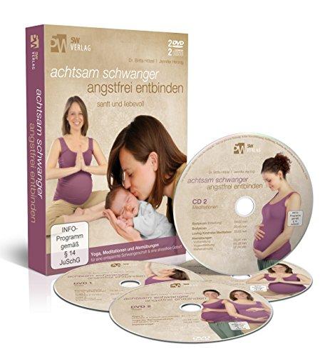 Achtsam schwanger, angstfrei entbinden (Mentale und körperliche Geburtsvorbereitung) [2 DVDs & 2 CDs]