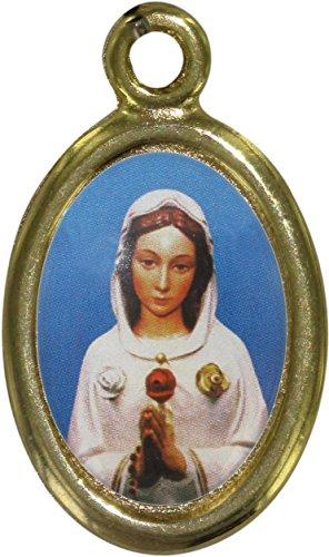 Medalla Metal Dorado cm 2,5resina rosa mística (unidades 50piezas)