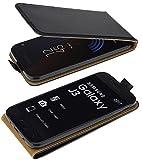 Flip-Style kompatibel mit Samsung Galaxy J3 (2017) DuoS Hülle Schutzhülle Tasche Hülle in schwarz