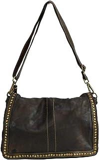 BZNA Bag Gil Braun Italy Designer Clutch Umhängetasche Damen Handtasche Schultertasche Tasche Leder Shopper Neu