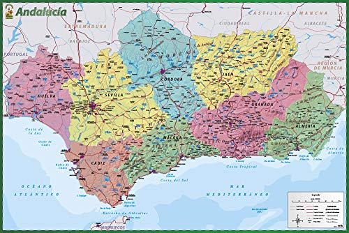 Poster Mapa De Andalucia