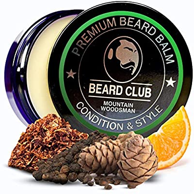 Premium Beard Balm | Mountain Woodsman | The Best Beard Conditioner & Softener to Shape & Style Your Beard, While Stopping Beard Itch & Flakes | Natural & Organic | Great for Hair Care & Growth