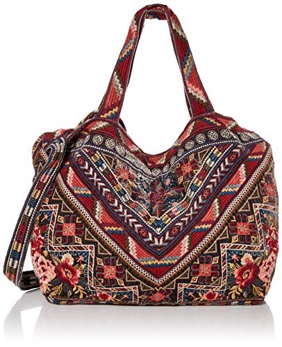 JWLA by Johnny Was Women's Embroidered Velvet Tote Bag, Graphite, O/S