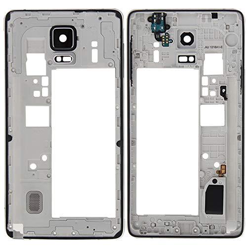 WANGZHEXIA Piezas de Repuesto para la Galaxia Panel de Lente de cámara de Carcasa de Placa Trasera de Bisel de Marco Medio para Galaxy Note 4 / N910F