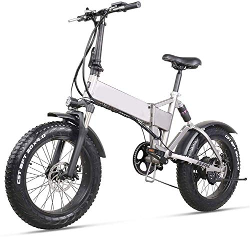 Ebikes, Folding Electric Bike City Commuter Ebike 20 Inch 500w 48v 12.8ah Electric Bicycle Lithium Battery Folding Mountain Bike with Rear Seat and Disc Brake