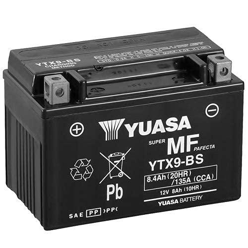 Batterie moto Yuasa YTX9-BS - Sans entretien - 12 V 8 Ah - Dimensions: 150 x 87 x 105 mm compatible avec Sym Joyride E3 125 2007-2012